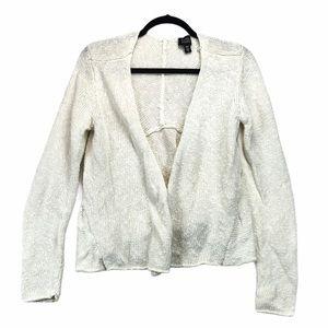 Eileen Fisher Linen Cotton White Cardigan